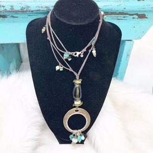 Silpada 925 Brass Pyrite Howlite Pendant N1892